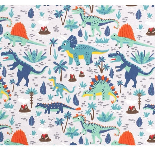 Grey Dinosaurs - Fabric Option for Clothing