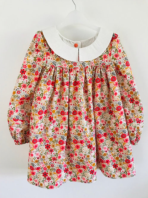 The Hallie Dress - Vintage Ditsy Floral - Front View