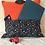 Travel Cushions - Orange Moon and Stars