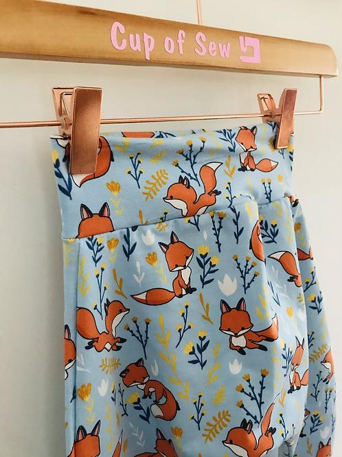 Harem Trousers - Sky Blue Foxes