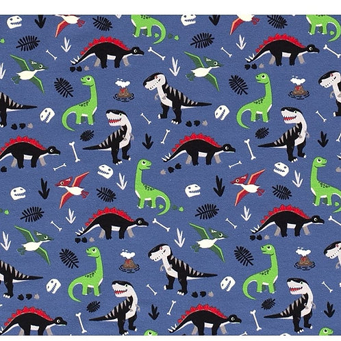 Blue Dinosaurs - Fabric Option for Clothing