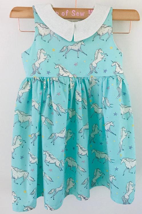 The Florence Dress - Mint Unicorns