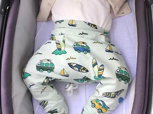 Harem Trousers - Green Campervans