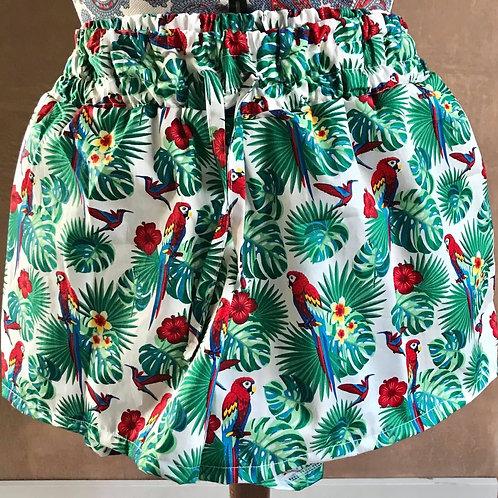 Adults Shorts - Birds of Paradise
