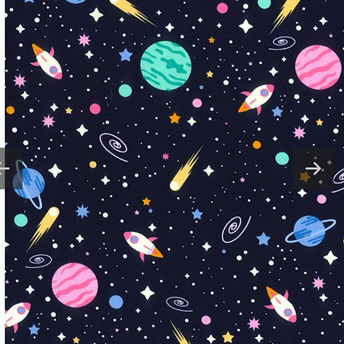 Navy Space - Fabric Option for Clothing