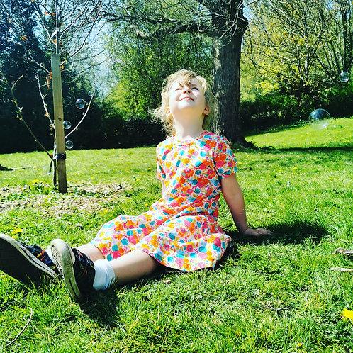 The Twirly Dress - Field of Flowers