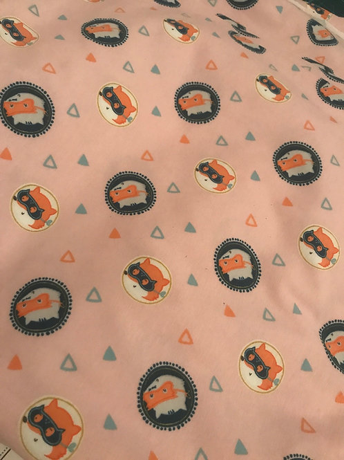 Pink Foxes and Badgers - Fabric Option for Clothing