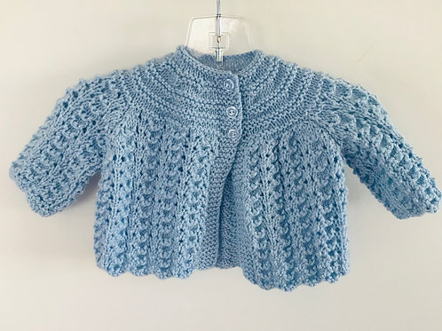 Blue Knitted Matinee Cardigan