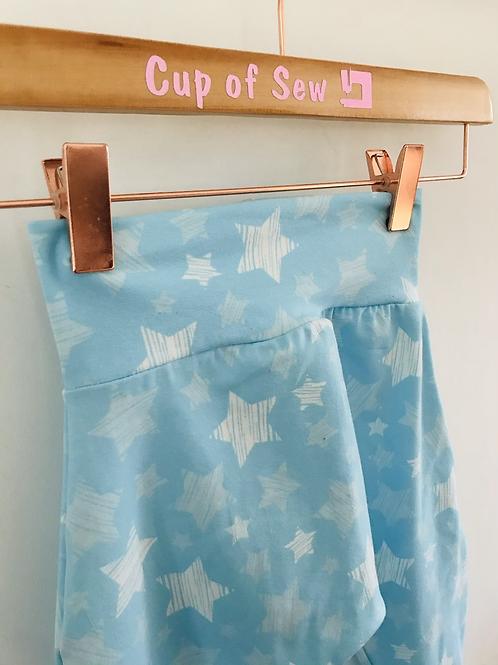 Harem Trousers - Blue Striped Stars