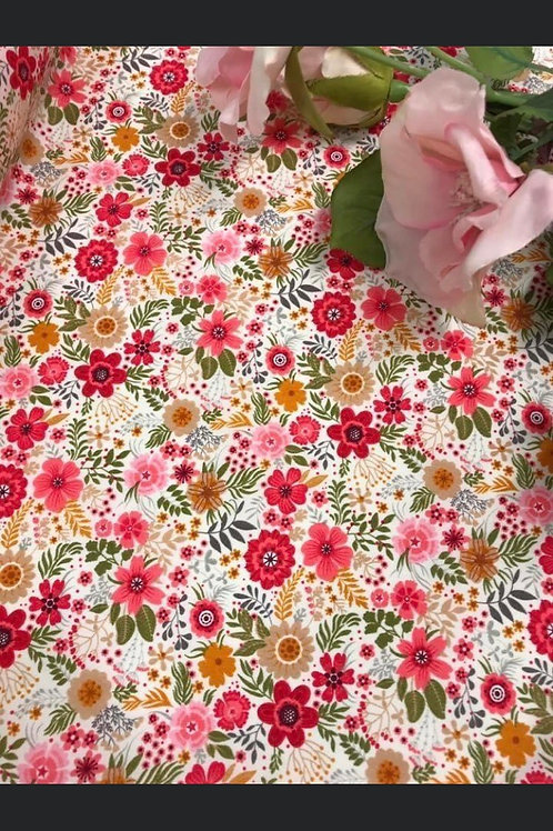 Ivory Ditsy Floral - Fabric Option for Clothing