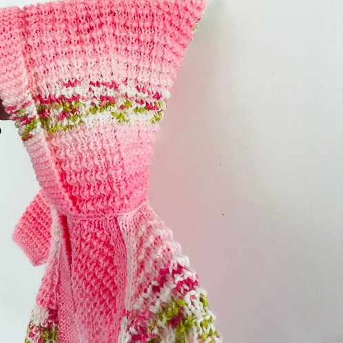 Pink Pistachio Hooded Knitted Cardigan - Hood