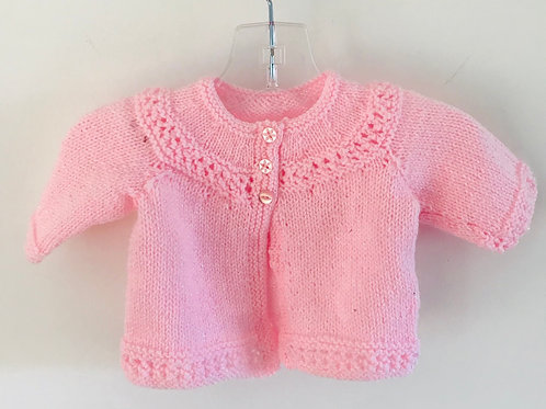 Pink Glitter Knitted Matinee Cardigan