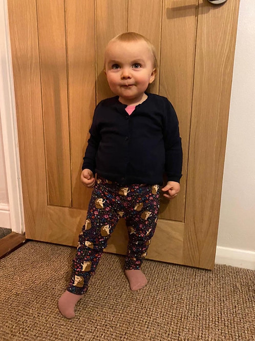 Harem Trousers - Navy Hedgehogs