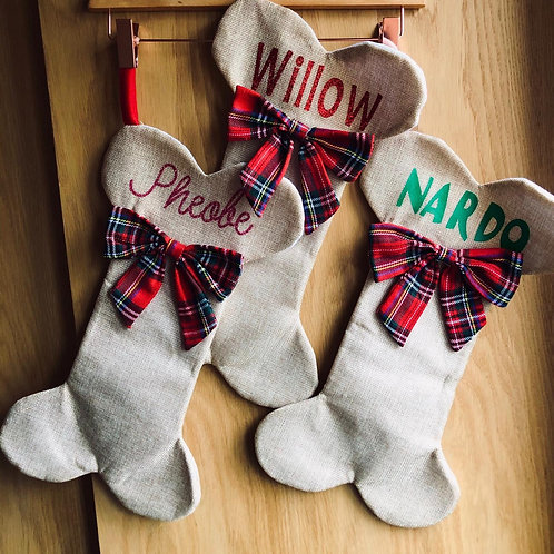 Personalised Doggy Christmas Stockings
