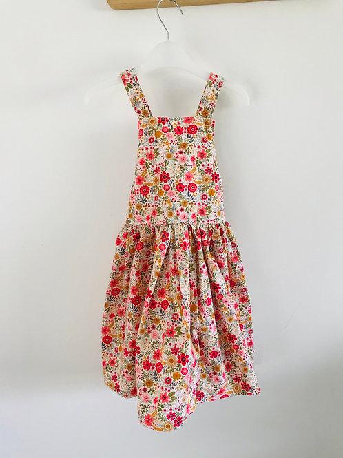 The Kyrah Pinny Dress - Vintage Ditsy Floral