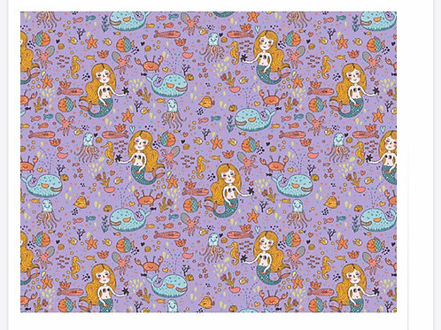 Lilac Glow in the Dark Mermaids - Fabric Option for Clothing
