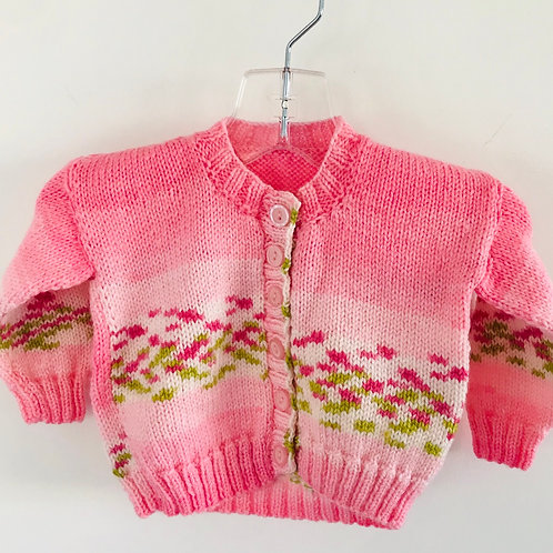 Pink Pistachio Knitted Cardigan