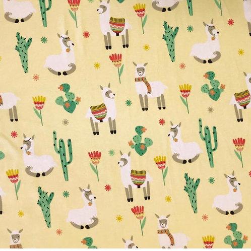 Lemon Llamas - Fabric Option for Clothing