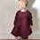 The Isabella Dress - Wine Corduroy