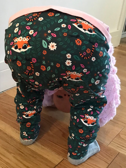 Harem Trousers - Jade Hiding Tigers - Back View