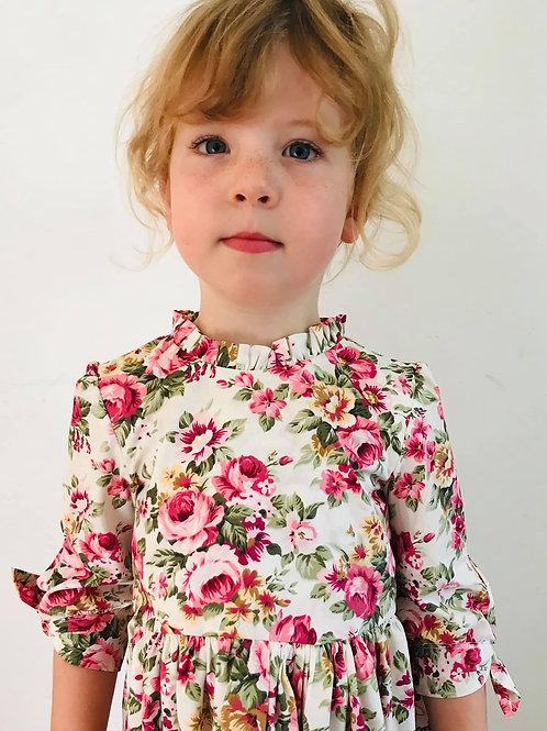 Front Bodice Beatrice Dress - Vintage Roses (The Layton Dress, Vintage Little Lady)