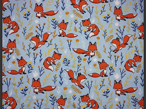 Blue Foxes - Fabric Option for Clothing