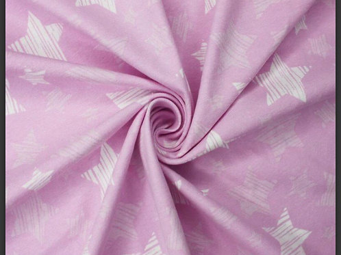 Pink Striped Stars - Fabric Option for Clothing