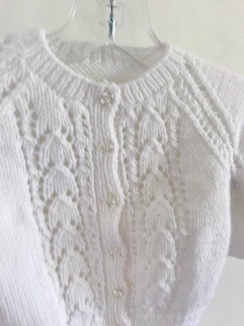 White Soft Touch Shell Knitted Cardigan