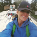 Roofing crew at work