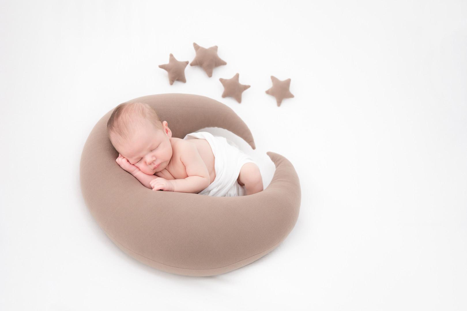 Newborn maan en sterren