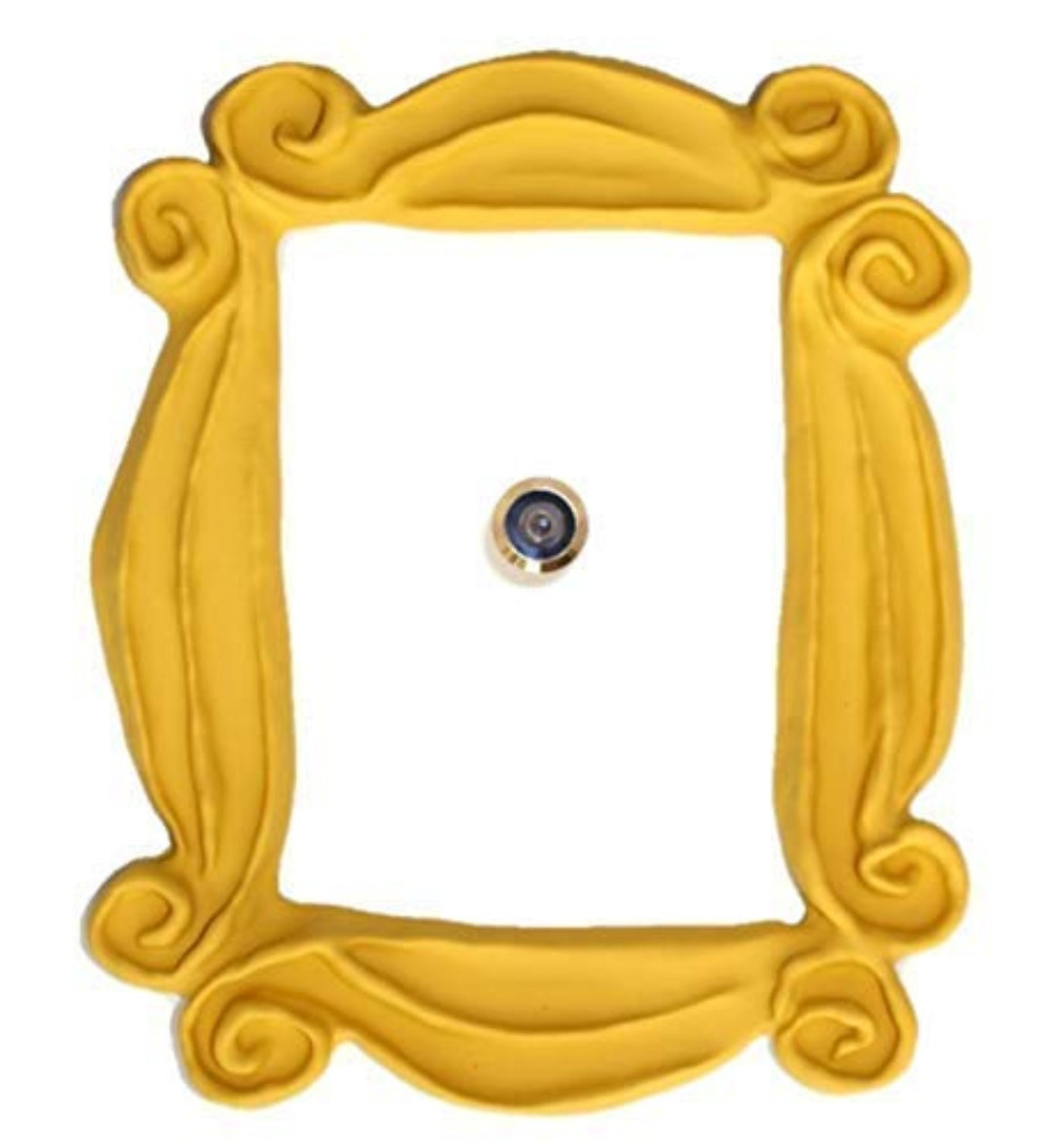 Marco de puerta artesanal de la serie Friends