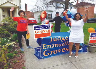 The extended Primary results in victory celebration for Judge Groves
