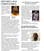 Sports Figures Who Tested Positive for Coronavirus