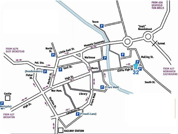 Map of Lewes