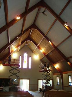 church ceiling redo