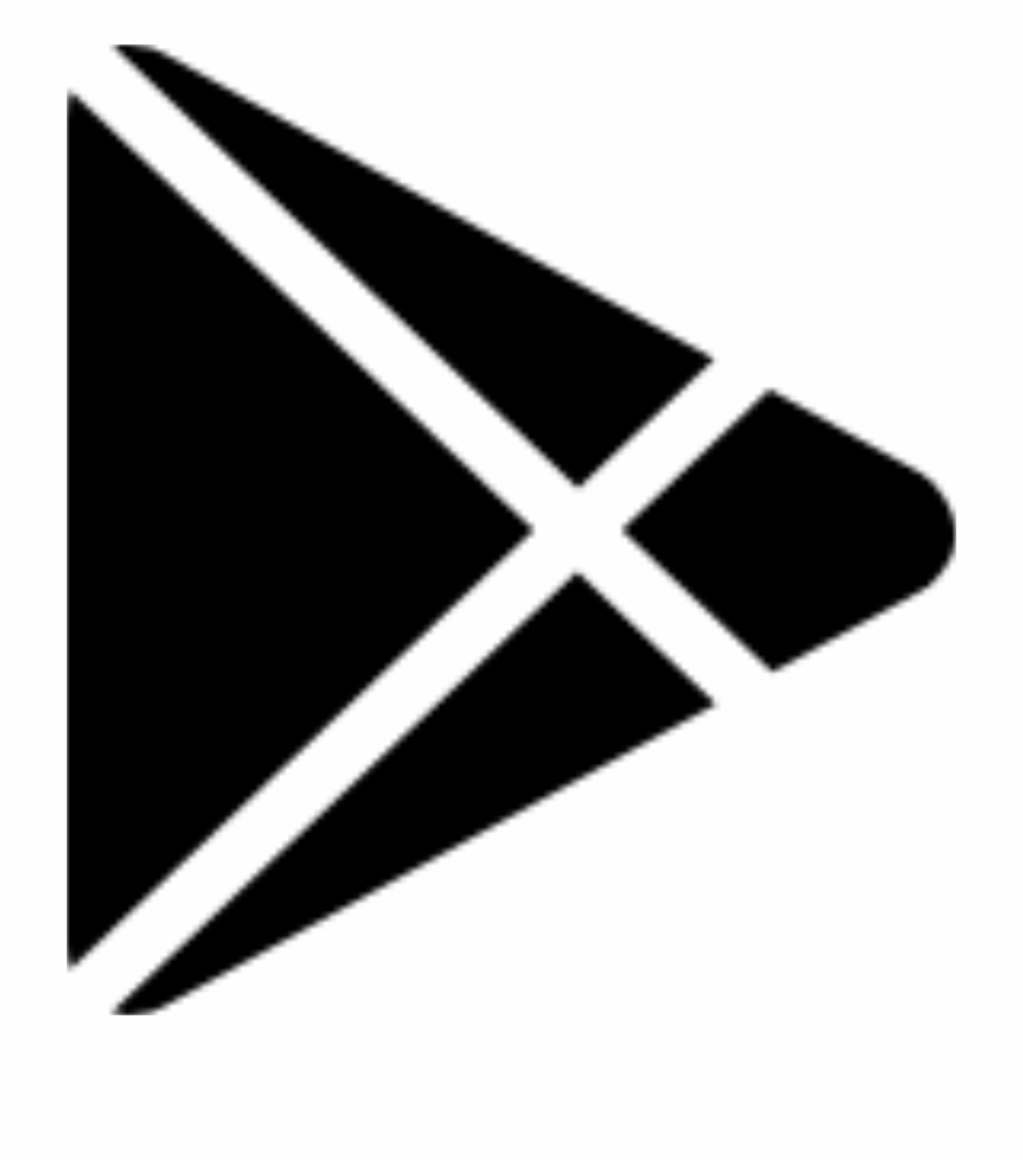 google play black and white logo