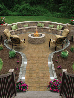 walkway to active firepit