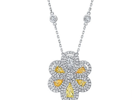 18K FANCY COLOR DIAMOND PENDANT