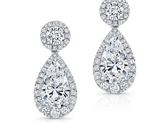 18K PEAR SHAPE DIAMOND EARRINGS