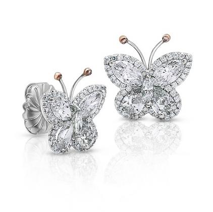 18K DIAMOND BUTTERFLY EARRINGS