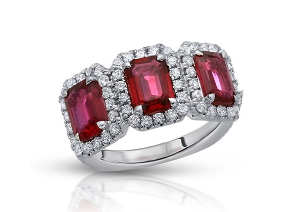 18K RUBY DIAMOND RING