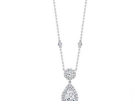 18K DIAMOND SEMI-MOUNT PENDANT