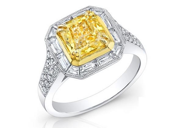 18K YELLOW DIAMOND RING