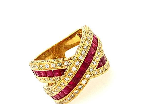 Ruby Diamond Ring