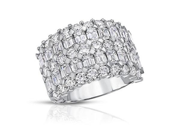 18K DIAMOND BAND RING
