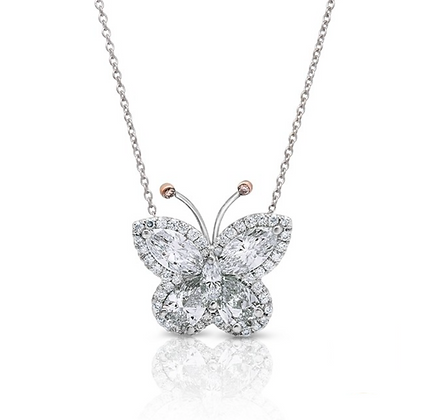 18K DIAMOND BUTTERFLY PENDANT