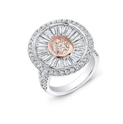 18K DIAMOND RING WITH PINK DIAMOND