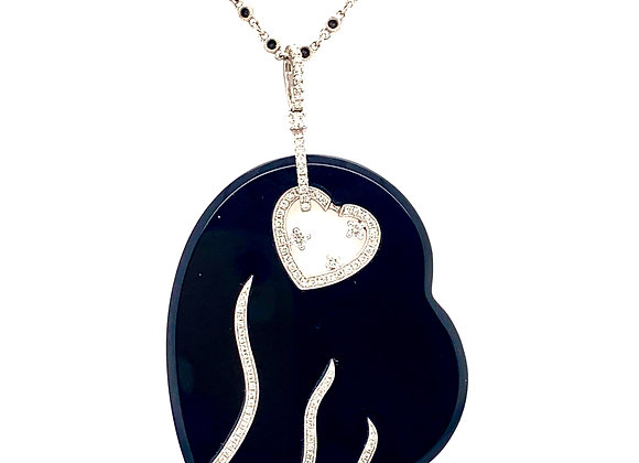 Diamond Black Onyx Pendant