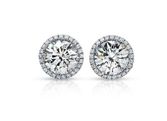 18K ROUND DIAMOND EARRINGS