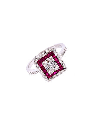 Ruby Diamond Ring